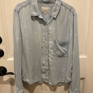Rails Chambray Star Print Button Down Shirt